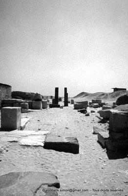 [086-1973-29] Saqqara - Ounas : Complexe funéraire (vue partielle)