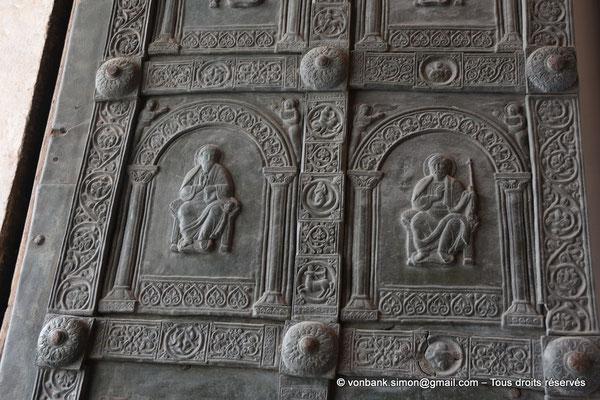[NU906-2019-1752] Santa Maria Nuova (Monreale) : Deux panneaux de la porte gauche du petit portail Nord (Barisano da Trani XII°)