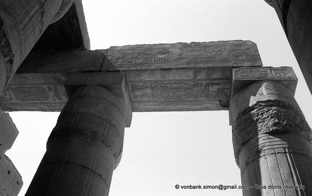 [NB086-1981-23] Ramesseum : Salle hypostyle