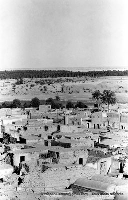 [NB060-1978-27] Temacine-Tamelhat - Village vu depuis le minaret de la mosquée de Si El Hadj Temacine