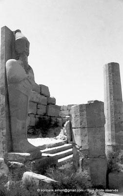 [NB078-1973-66] Karnak - Akh-Menou : Colosse osiriaque du portique d'entrée (Thoutmôsis III)