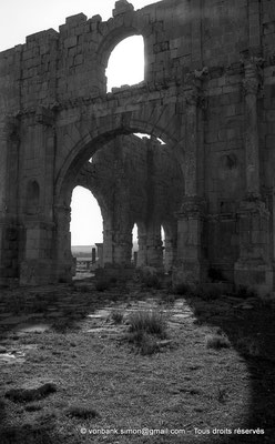 [NB017-1981-26] Lambèse (Lambaesis) : Le Praetorium (Groma) - Façade Sud (porte centrale)