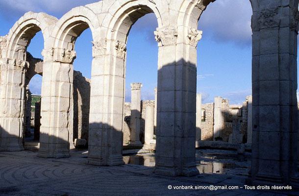 [034-1984-15] Makthar (Mactaris) : Grands thermes du Sud-Est - Frigidarium - En arrière-plan, Palestre Nord-Est