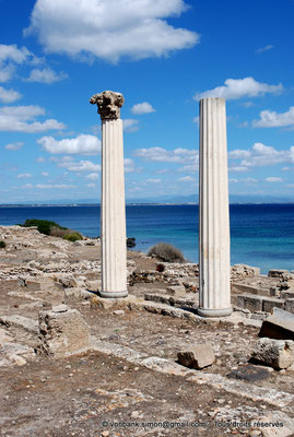 [NU904-2015-224] Tharros (Sardaigne) : Temple tétrastyle dont il ne reste que deux colonnes