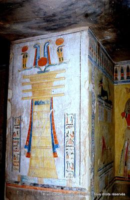 [066-1981-13] QV 44 Khaemouaset : Pilier djed (Ptah stabilisateur (nilomètre))