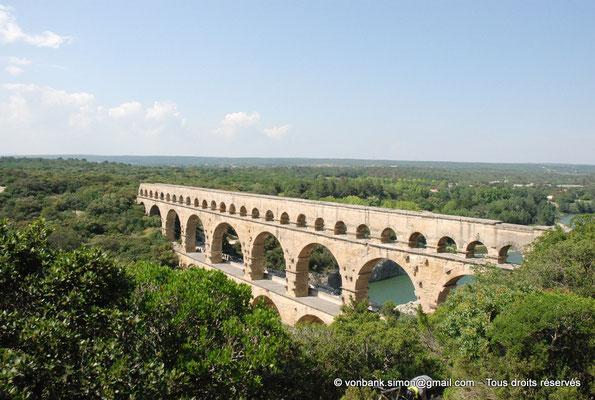 [NU001j-2018-0014] Nîmes (Nemausus) - Pont du Gard : Façade occidentale