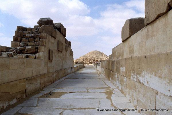 [067-1981-16] Saqqara - Ounas : Chaussée d'Ounas en direction de la pyramide du Roi