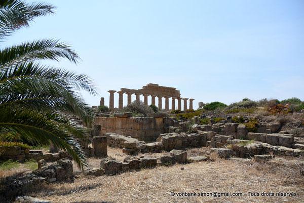 [NU906-2019-1513] Sélinonte - Temple C : Face Nord - Vue prise depuis le quartier des habitations situé à l'Est de l'Acropole