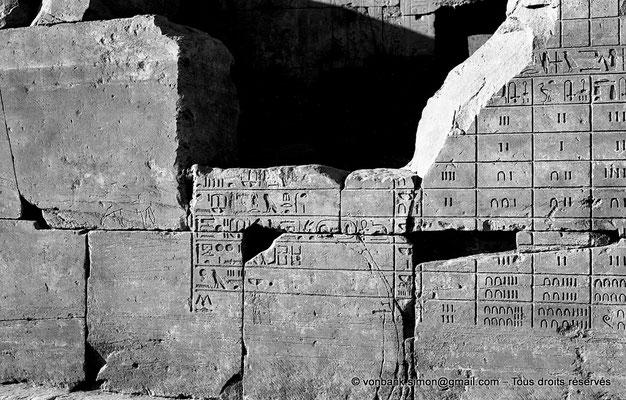 [NB074-1973-12] Karnak - Ipet-Sout : Décompte des butins offerts au temple d'Amon (Annales de Thoutmôsis III)