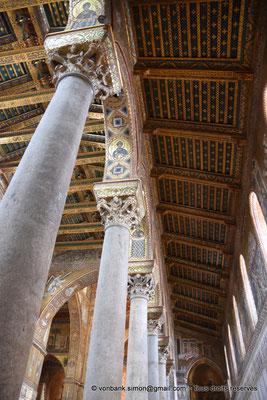 [NU906-2019-1697] Santa Maria Nuova (Monreale) : Plafond de la nef latérale Sud