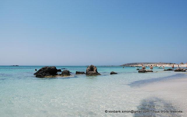 [NU900x-2013-0098a] GR - Crète - Elafonissi : Eaux cristallines de la lagune