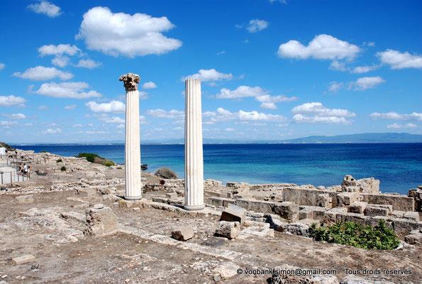 [NU904-2015-223] Tharros (Sardaigne) : Temple tétrastyle dont il ne reste que deux colonnes