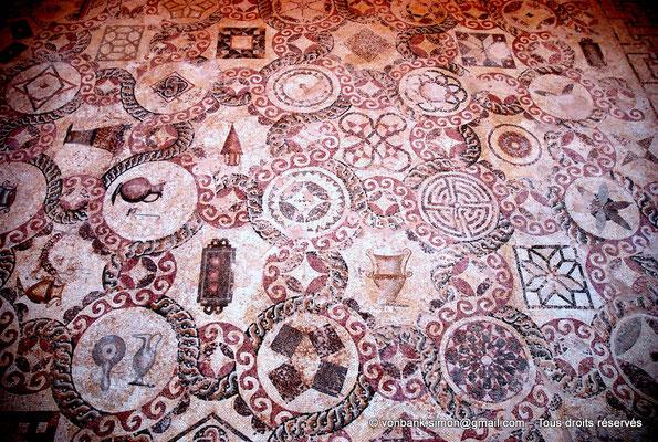 [NU900-2012-060] Paphos (Nea Paphos) : Villa de Dionysos - Mosaïque aux motifs géométriques polychromes [7]