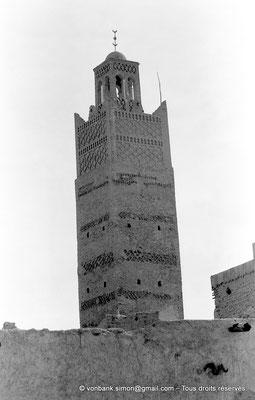 [NB050-1978-27] Temacine-Tamelhat - Minaret de la mosquée de Si El Hadj Temacine