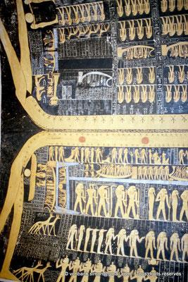 [066-1981-31] KV 9 Ramsès VI : Voûte céleste - Partie inférieure : Livre du Jour - Partie supérieure : Livre de la Nuit (Chambre funéraire)