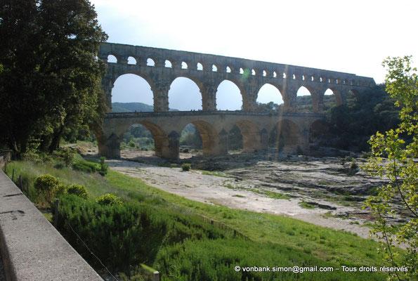 [NU001j-2018-0025] Nîmes (Nemausus) - Pont du Gard : Façade orientale