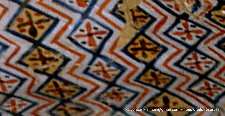 [065-1981-34a] TT 96B - Sennefer : Motif à losanges (plafond de la chambre funéraire)