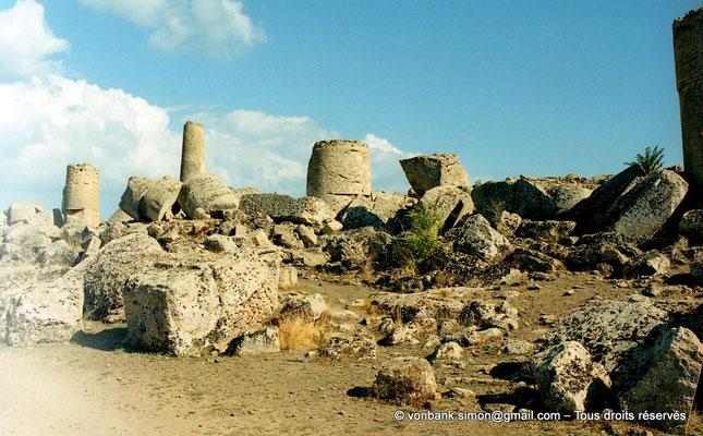 [C003-2005-01a] Sélinonte - Temple G : Ruines