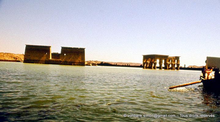 [089-1973-11] Philae : Pylône du Temple d'Isis et Kiosque de Trajan