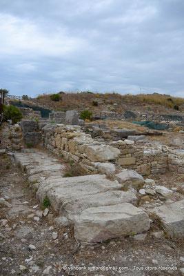 [NU906-2019-1343] Ségeste - Agora : Vue partielle des ruines du portique