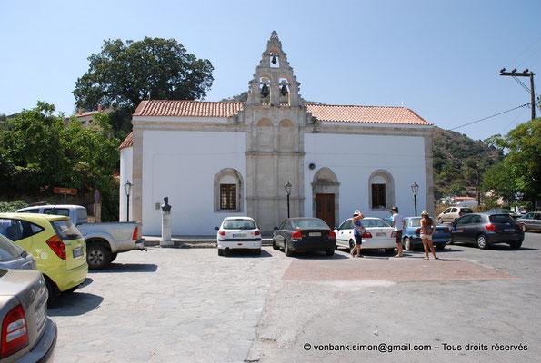 [NU900x-2013-0204] Crète - Argyroupoli : Façade de l'église des Archanges avec sa partie romaine