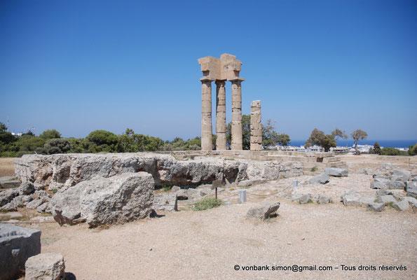 [NU901-2009-0100] Rhodes : Sanctuaire d'Apollon Pythien (colonnes relevées)