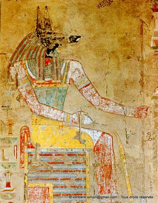 [080-1973-13] Deir el-Bahari : Temple d'Hatchepsout - Anubis (Chapelle d'Anubis)