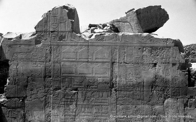 [NB078-1973-64] Karnak - Ipet-Sout : Enumération des dons au temple d'Amon (Annales de Thoutmôsis III)