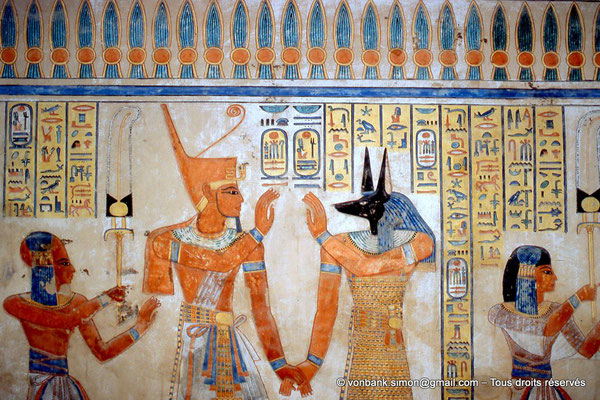 [064-1981-15] QV 55 Amonherkhépshef : Amonherkhépshef - Ramsès III - Douamoutef - Amonherkhépshef