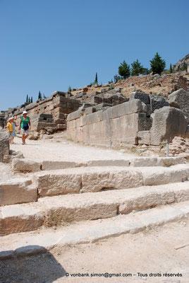[NU901-2008-0146] GR - Delphes - Sanctuaire d'Apollon : Voie sacrée - Marches de l'entrée du sanctuaire (côté Sud-Est)