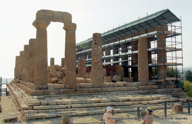 [C004-2005-21a] Agrigente - Temple d'Héra (Junon) : Face Est