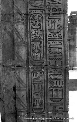 [NB087-1973-71] Karnak - Temple de Ptah : Porte C - Détail du montant Nord, Face Ouest (Ptolémée Néos Dionysos)