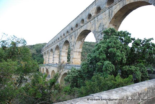 [NU001j-2018-0024] Nîmes (Nemausus) - Pont du Gard : Façade orientale