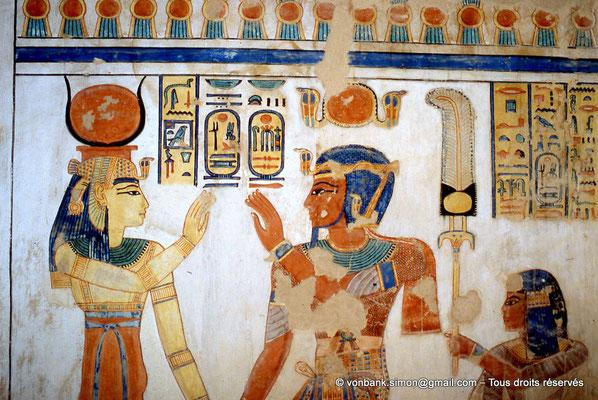 [064-1981-18] QV 55 Amonherkhépshef : Hathor - Ramsès III - Amonherkhépshef
