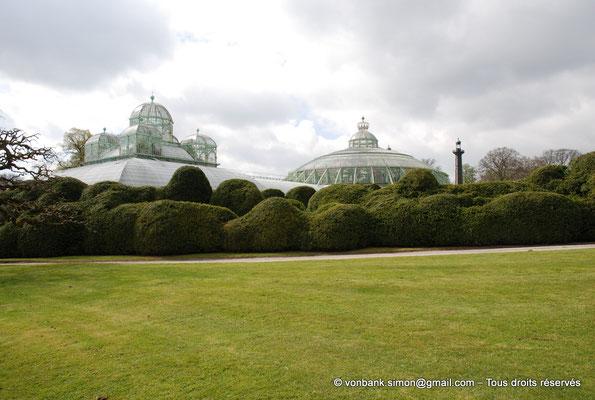 [NU900c-2012-0097] B - Bruxelles - Laeken : Serres royales - Jardin d'hiver, la coupole - Serres du Congo - Embarcadère