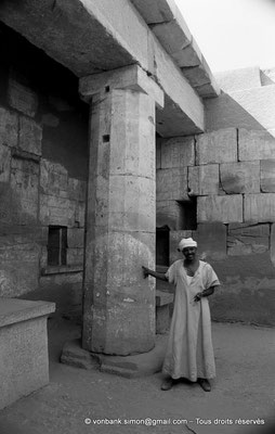 [NB075-1973-60] Karnak - Temple de Ptah : Cour - Colonne Sud (Thoutmosis III)