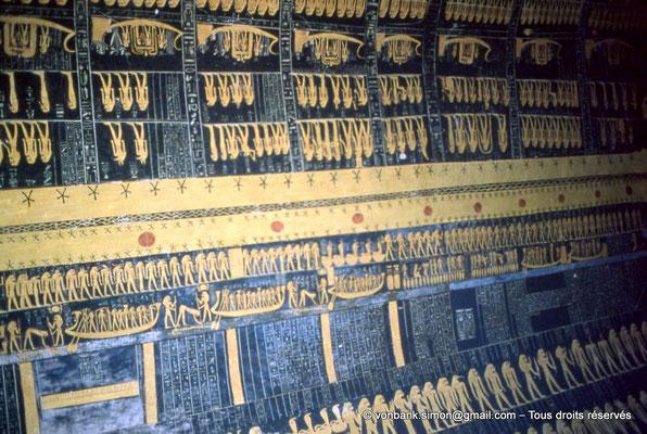 [066-1981-32] KV 9 Ramsès VI : Voûte céleste - Partie inférieure : Livre du Jour - Partie supérieure : Livre de la Nuit (Chambre funéraire)