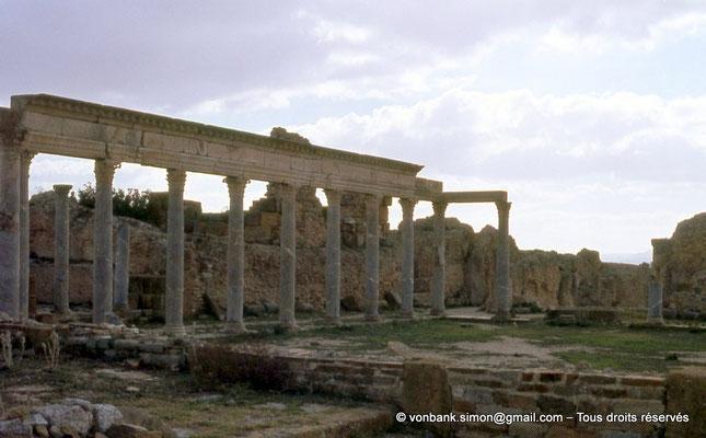 [017-1978-09] Henchir Kasbat (Thuburbo Majus) : Portique de la Palestre des Petronii