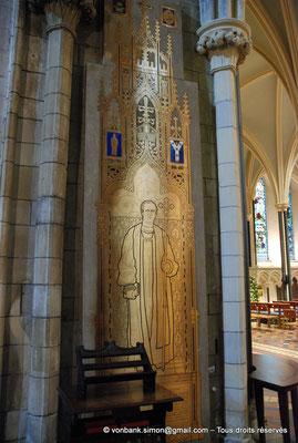 [NU002p-2016-0127] Dublin - Cathédrale Saint-Patrick : Plaque tombale de John Henry Bernard (1860 - 1927), ancien archevêque de Dublin