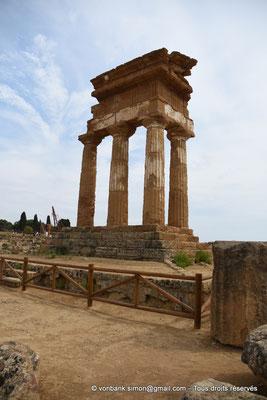 [NU906-2019-1608] Agrigente - Temple des Dioscures (Castor et Pollux) : Angle Nord-Ouest du temple
