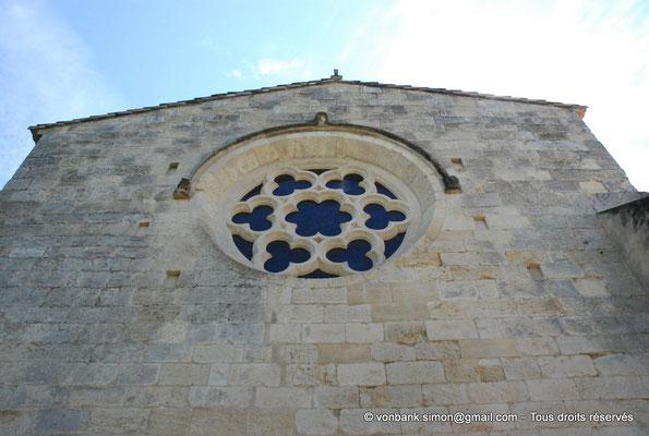 [NU003-2017-116] 13 - La Roque d'Anthéron - Abbaye de Silvacane : Rosace Ouest du réfectoire