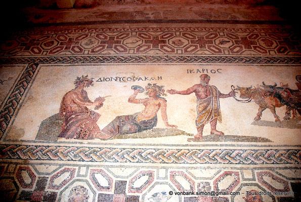 [NU900-2012-054] Paphos (Nea Paphos) : Villa de Dionysos - Histoire d'Icarios (partie principale) : Dionysos, Akmé et Icarios [16]