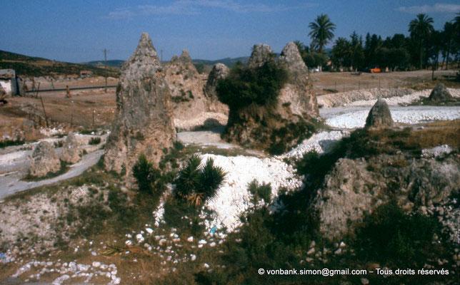 [022-1980-68] Hammam Meskoutine (Aquae Thibilitanae) : Cônes de pierre (noce pétrifiée)