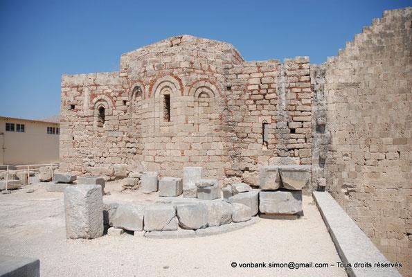 [NU901-2009-0137] Lindos (Rhodes) : Eglise byzantine Agios Ioannis (XIV° siècle)