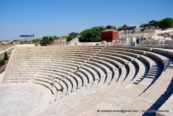 [NU900-2012-025] Kourion (Curium) : Théâtre - Cavea, orchestre et scène (vue partielle)