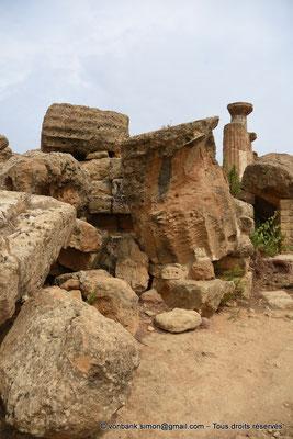 [NU906-2019-1582] Agrigente - Temple d'Héraclès (Hercule) : Colonnes de la face Sud (vue depuis le côté Ouest du temple)