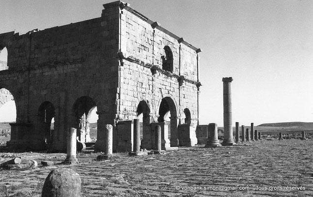 [NB017-1981-31] Lambèse (Lambaesis) : Le Praetorium (Groma) - Façades Ouest et Sud
