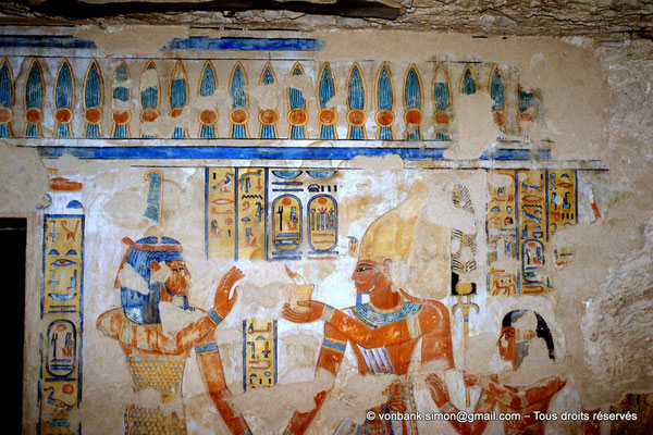[064-1981-20] QV 55 Amonherkhépshef : Shou - Ramsès III - Amonherkhépshef