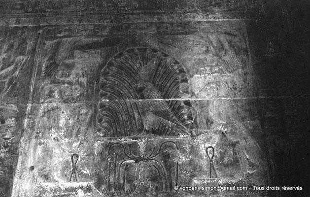 [NB070-1973-64] Karnak - Temple d'Opet : Salle Sud, paroi Nord - Ouadjyt, Isis-hippopotame (Partie gauche), Nekhbet, Isis-lionne (partie droite)