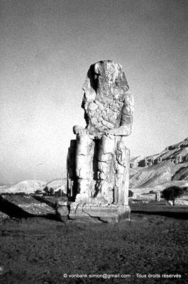 [088-1973-32] Temple funéraire d'Amenhotep III : Colosse de Memnon